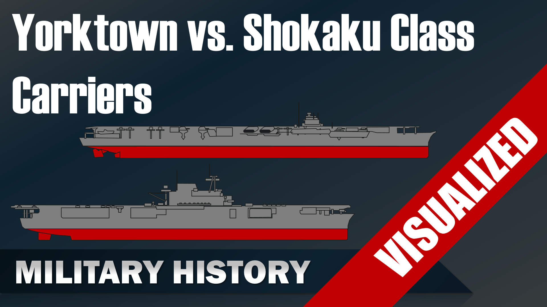 Yorktown Vs Shokaku Class Carriers Uss Enterprise Hijms Zuikaku