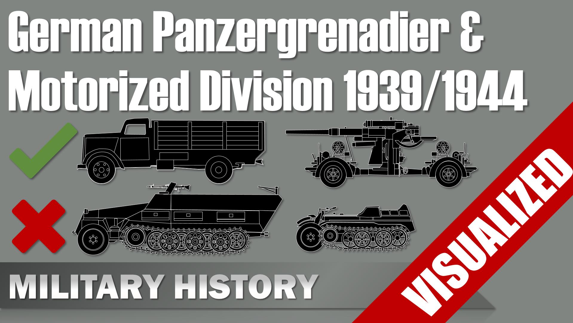 Panzergrenadier Division 1944 Motorized Infantry Divsion 1939