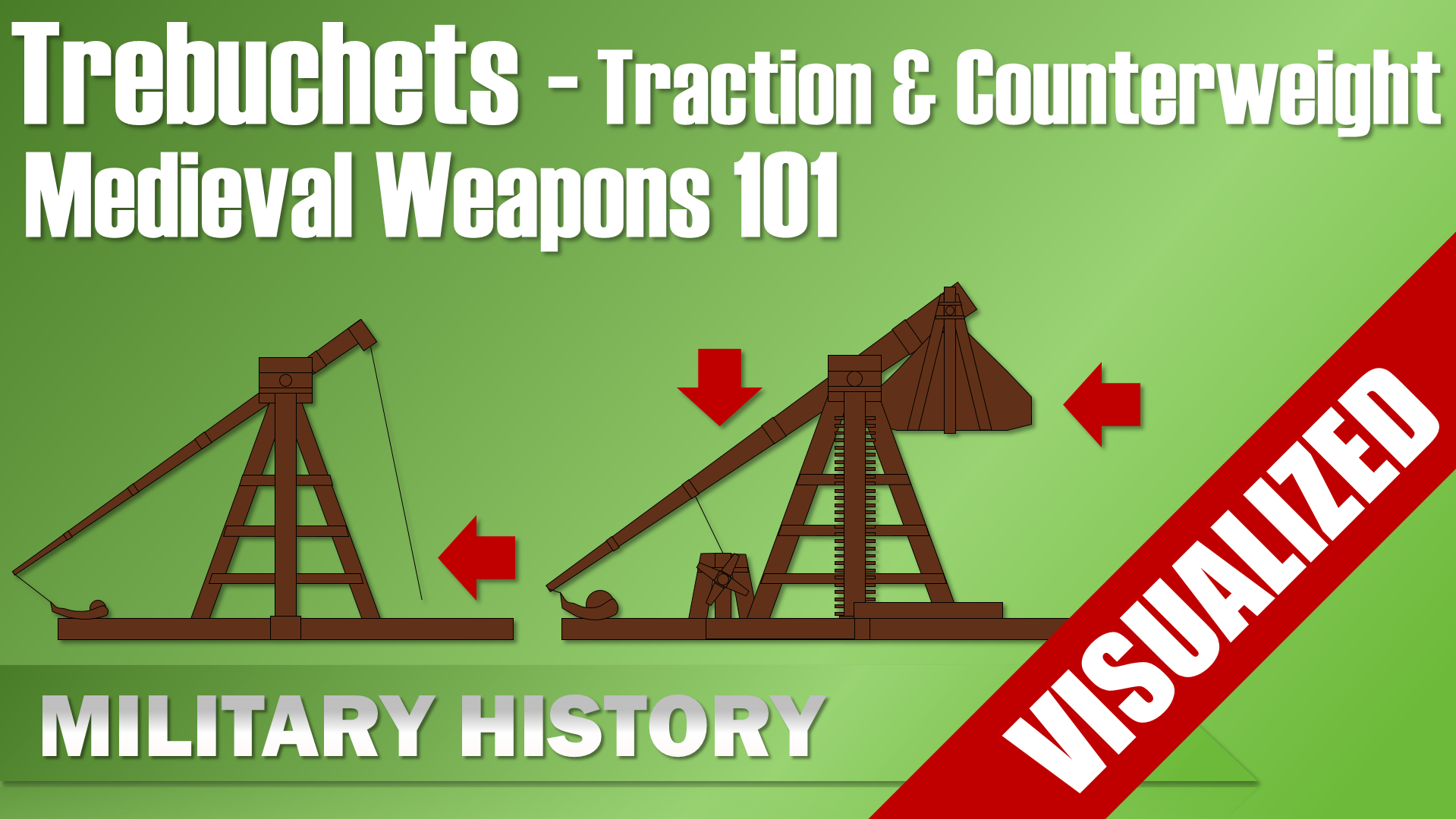 Trebuchets Traction Counterweight Medieal Weapons 101